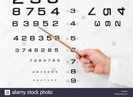 Doctor Chart Doctor Optometrist Ophthalmologist Pointing Out A Number In