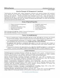 Management Consultant Resume Sample Change Business Vozmitut