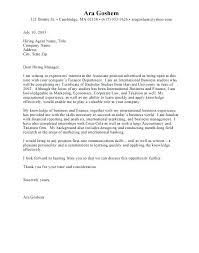 Email Cover Letter Internship Cover Letter For Internship