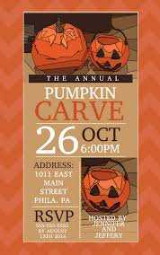 Pumpkin Carving Contest Flyers Halloween Pumpkin Carving Competition Announcement Poster Or Flyer