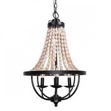 more views nori 4 light wood bead chandelier