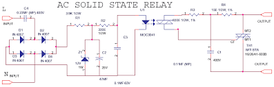 solid state relay delabs schematics electronic circuit this ac control ssr is used where only an ac control signal is available the bta series has the heatsink tab insulated from the triac chip inside