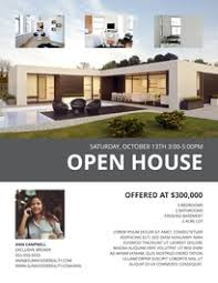 Home Flyers Template 16 Free Real Estate Flyer Templates Open House Lucidpress