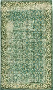 5 1u0026quot X 8 8u0026quot Emerald Green Turkish Overdyed Rug