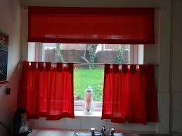Red Curtains For Kitchen Kitchen Curtains With Red Kitchen Room