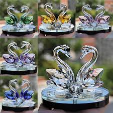 crystal swan wedding decor paperweight figurine gift crafts home decor decoration de cygne de cristal