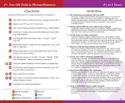 2 Year Old Developmental Milestones Chart Four Year Old Development Lessons Tes Teach