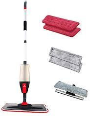 floor spray mop kit with 3 n 1 function mop set with 5 free