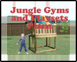jungle gym and playhouse swing set plans