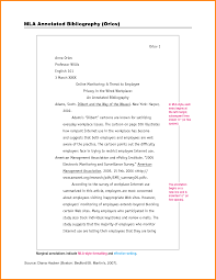 012 Example Of An Annotated Bibliography Mla Format For Essay L