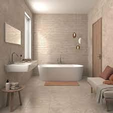 Beige Bathroom Ideas For Feeling Bright And Homey Beige Tile Bathroom Bathroom Feature Wall Beige Bathroom