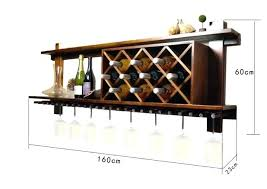 wooden wine racks wall mounted rack and glass holder cabinet floating intended