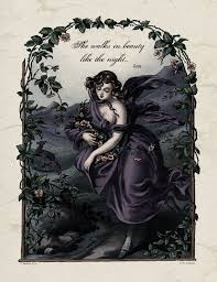 ideas about lord byron on pinterest   poems  john keats and lordlord byron   regency poetry she walks in beauty poem print   r tic victorian art reproduction