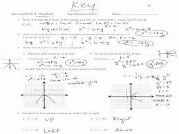 vertex form of parabolas worksheet the best worksheets image