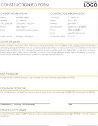 Construction Proposal Quote Templates Download In Excel