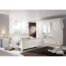 Landhaus Schlafzimmer Roland Ii Kiefer Massiv Weiß Lasiert