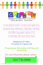 Free Printable Daycare Flyers 40 Child Care Flyers Templates Markmeckler Template Design