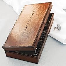 personalised leather cufflink box birthdays gentleman and font personalised leather cufflink box