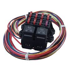70117 mustang 7 circuit auxiliary fuse block 7 ignition hot uses two 40 amp relays 7 circuit auxiliary fuse block 7 ignition hot circuits