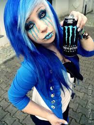 Metallic blaue haare