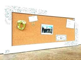 large bulletin boards awesome framed decorative board white cork throughout wall for fra