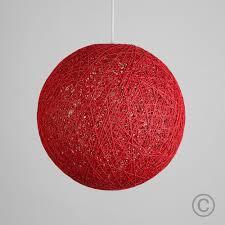 Woven Ceiling Light Shade Modern 20cm Red Rattan Wicker Ball Ceiling Light Pendant