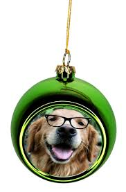 ornament dog hipster golden retriever in gles bauble christmas ornaments green bauble tree xmas walmart