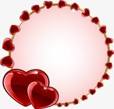 red hearts border red heart frame png and vector