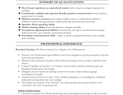 Preschool Director Resume Student Objective For Resume Sample