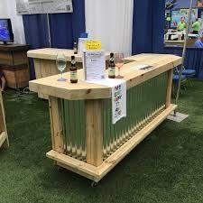 patio bar wood. Metal Foo-bar Sr. - 8\u0027 Rustic Corrugated And Treated Wood U Shaped Outdoor Patio Bar A