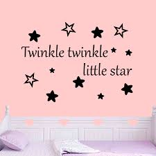 >girl s bedroom wall stickers twinkle twinkle little star wall sticker