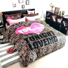leopard bedding sets king size duvet cover textile set ruffle rustic print bedd