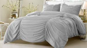 2pc ruched design gray duvet cover set style 1005 twin twin xl cherry hill collection com