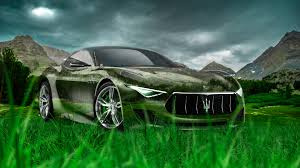maserati granturismo crystal nature car