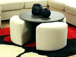 coffee tables with stools underneath table seats round storage w