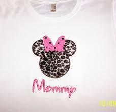 Safari Mickey Applique Design Custom Minnie Mouse Leopard Shirt Animal Kingdom Safari