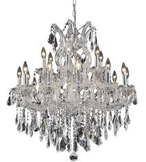 elegant lighting 2801d30c rc maria theresa 19 light 30 inch chrome dining chandelier ceiling light in clear royal cut