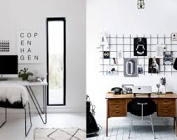 black and white office. Interior:Good Looking Black And White Office Decor Home Decorating Ideas Pink Gold Wall Red :