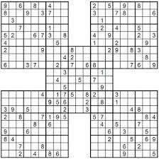 100 printable easy samurai sudoku puzzles.Samurai sudoku consist ...