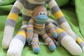 Sock Monkey Pattern Gorgeous Sock Monkey Free Sewing Pattern Craft Passion