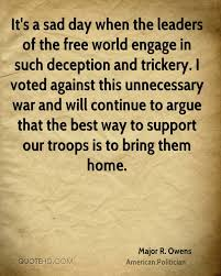 Quotes On War Unique Major R Owens Quotes QuoteHD