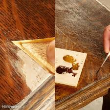 replace missing wood finish the epoxy