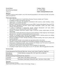 Resume Objective For Business Analyst Best of Resume Objective Business Business Analyst Resume Examples Senior