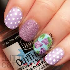 Lilac Nail Art - The Little Canvas