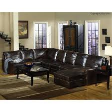 contemporary brown leather 4 piece sectional sofa mayfair rc willey furniture