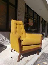 Vintage high back chair Queen Retro Midcentury Modern Yellow Arm Lounge High Back Vintage Chair By Rowe Danish Homestore Vintage High Back Chair Ebay