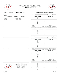 Basketball Lineup Sheet Template Team Roster Pdf Free