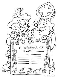Verlanglijst Sinterklaas Kleurplaatsinterklaasnl