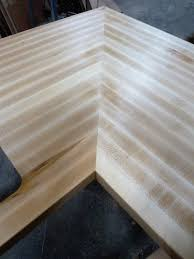 we are capable of doing mitered corners for your butcherblock countertops we join our miters using metal undermounted fasteners to ensure that they are the
