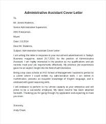 Ideas Collection Cover Letter For Administrative Position Pdf For